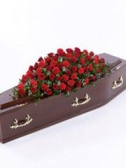 Rose and Carnation Casket Spray